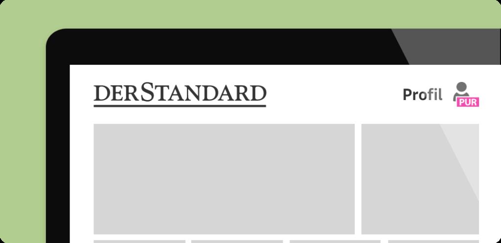 PUR Kennzeichnung auf Webseite